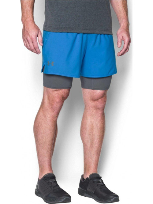 Herren Shorts Under Armour 2 v 1 Hellblau