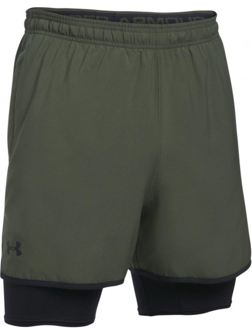 Herren Shorts Under Armour 2 v 1 grün