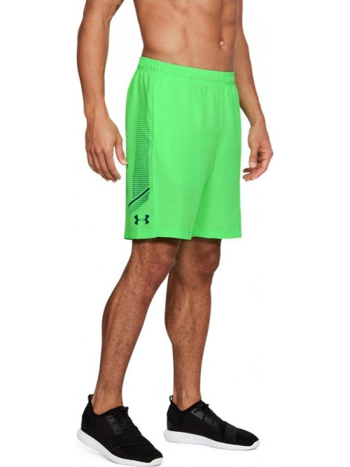 Herren Shorts Under Armour Woven Graphic grün