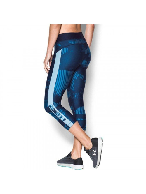 Damen kompression 3/4 Leggings Under Armour PrintGrap camo-blau