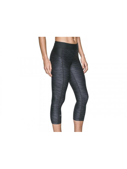 Damen kompression 3/4 Leggings Under Armour Printed grau-schwarz