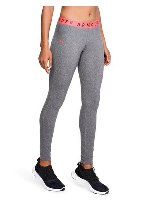 Damen Leggings Under Armour Favorite grau-rosarot