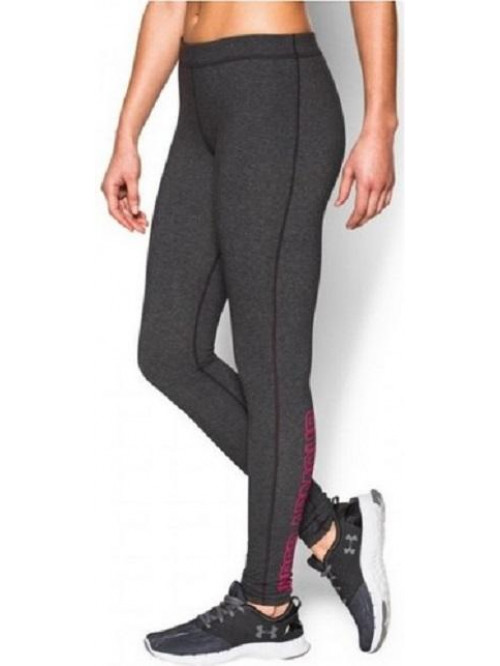 Damen Leggings Under Armour Favorite Wordmark grau