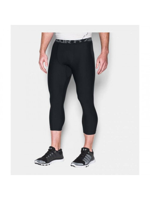 Herren kompression 3/4 Leggings Under Armour HG 2.0 Schwarz