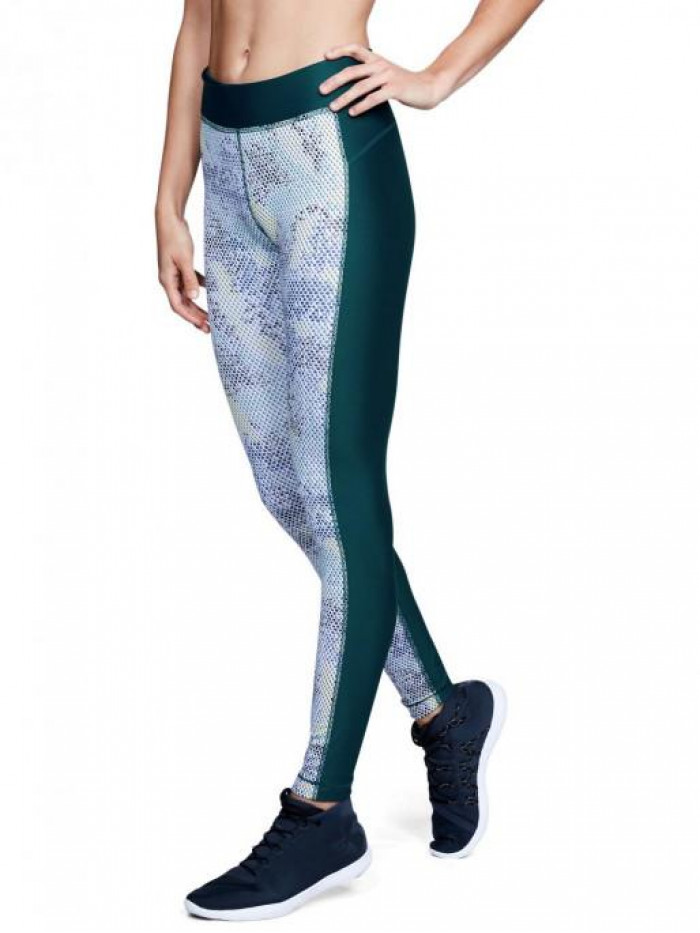 Damen kompression Leggings Under Armour Printed grün