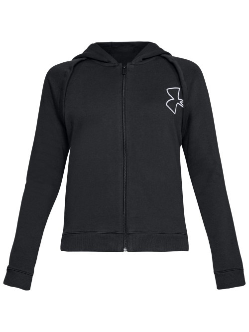 Damen Sweatshirt Under Armour Rival Fleece FZ Hoodie Schwarz