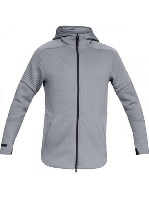 Herren Sweatshirt Under Armour Unstoppable Move FZ Hoodie Grau