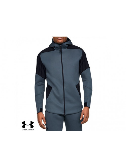 Herren Sweatshirt Under Armour Unstoppable Move FZ Hoodie Wire Grau