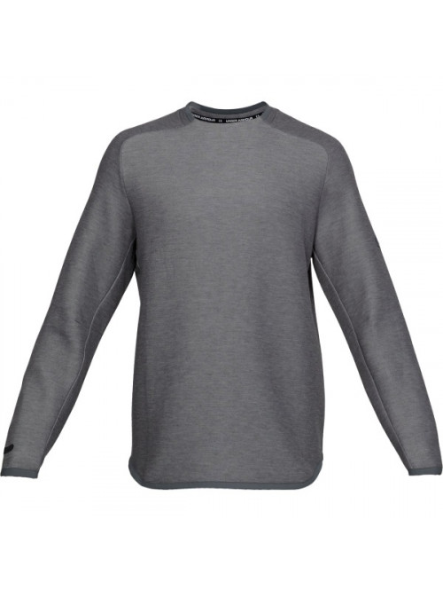 Herren Sweatshirt Under Armour Unstoppable Move Crew Black Light Heather Schwarz