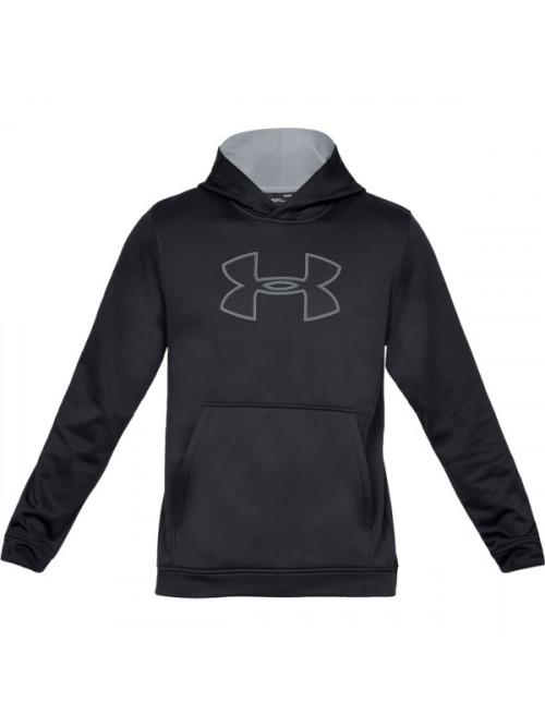 Herren Sweatshirt Under Armour Performance Fleece Graphic Hoody Schwarz