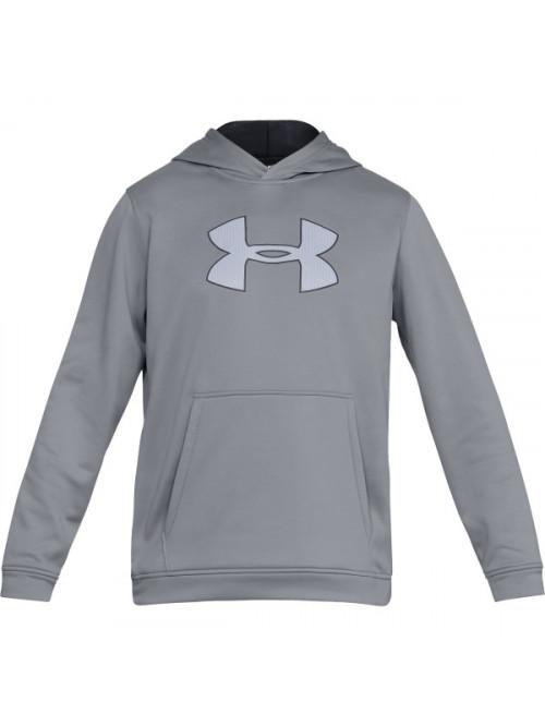 Herren Sweatshirt Under Armour Performance Fleece Graphic Hoody Grau