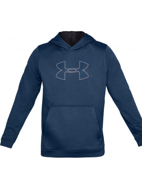 Herren Sweatshirt Under Armour Performance Fleece Graphic Hoody Blau