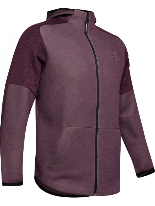Herren Sweatshirt Under Armour Unstoppable Move Light Kinetic Purple Full Heather Lila