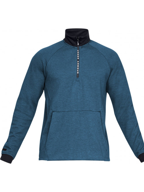 Herren Sweatshirt Under Armour Unstoppable 2X KNIT 1/2 ZIP Blau