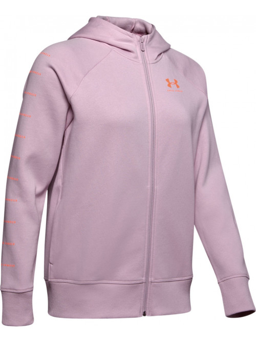 Damen Sweatshirt Under Armour Rival Fleece Sportstyle Rosarot