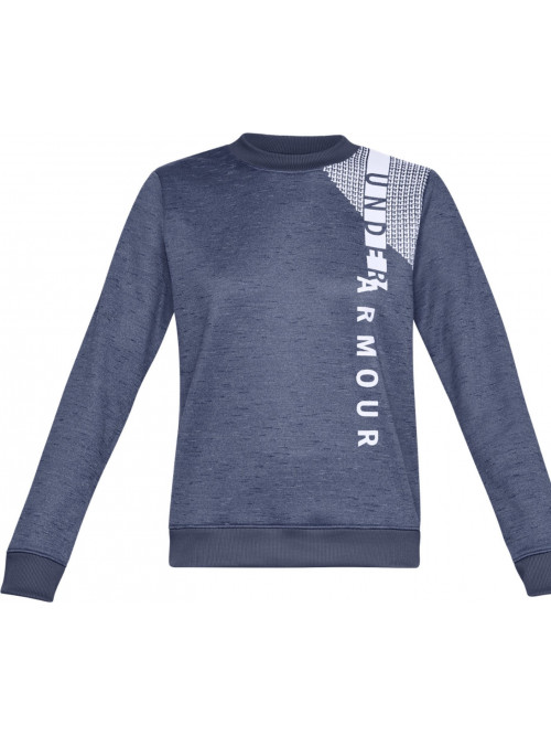 Damen Sweatshirt Under Armour Synthetic Fleece Crew Blau