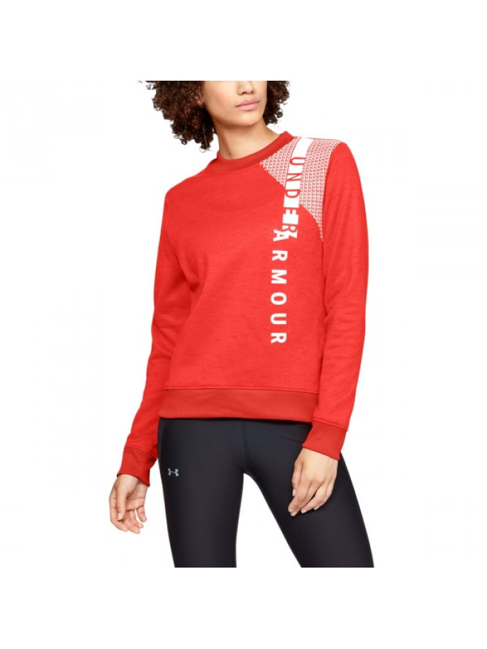 Damen Sweatshirt Under Armour Synthetic Fleece Crew Orange