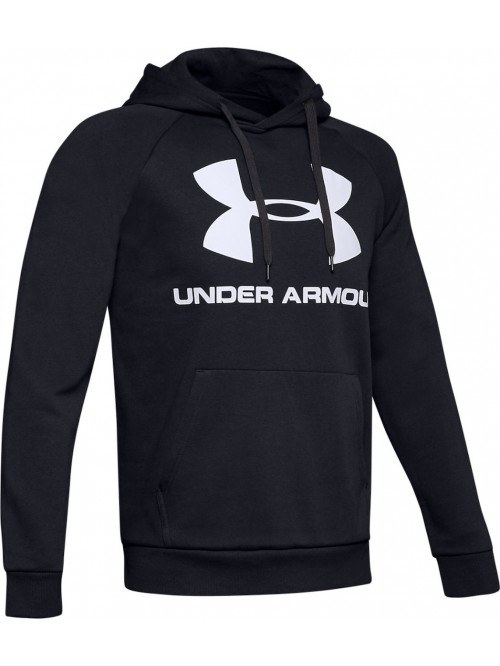 Herren Sweatshirt Under Armour Rival FLEECE BIG LOGO Schwarz