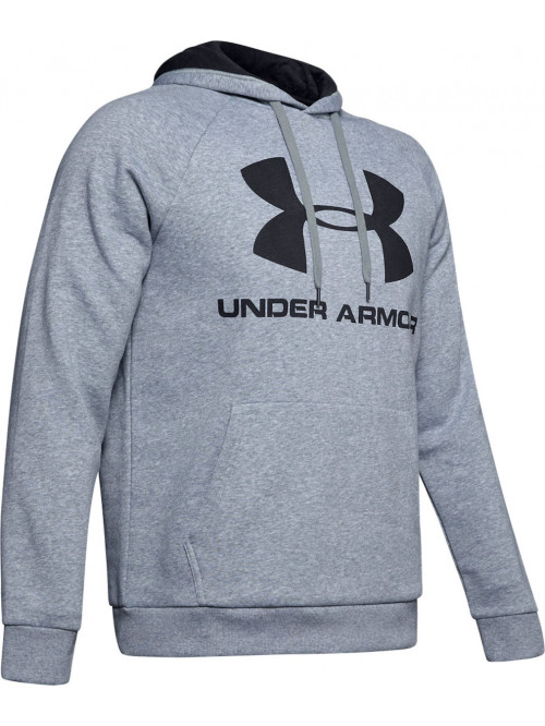 Herren Sweatshirt Under Armour Rival FLEECE BIG LOGO Grau