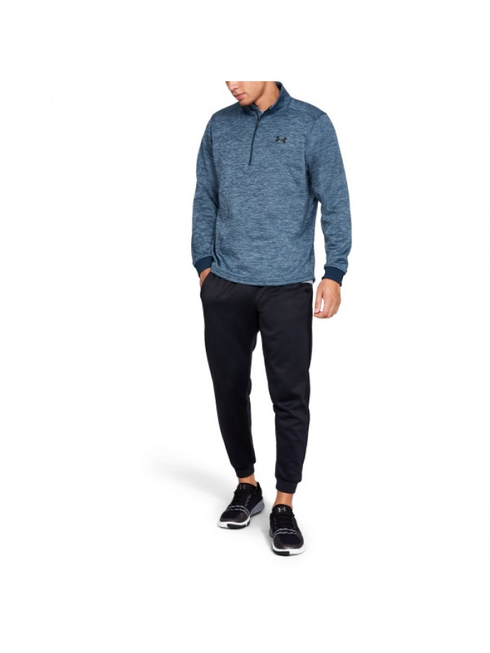 Herren Sweatshirt Under Armour Fleece 1/2 Zip Blau