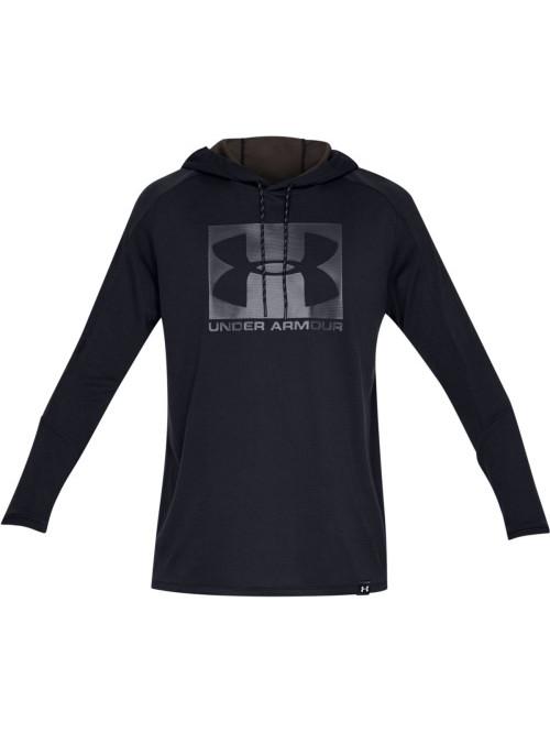 Herren Sweatshirt Under Armour Lighter Longer Hoodie Schwarz