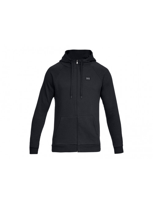Herren Sweatshirt Under Armour RIVAL FLEECE FZ HOODIE Schwarz