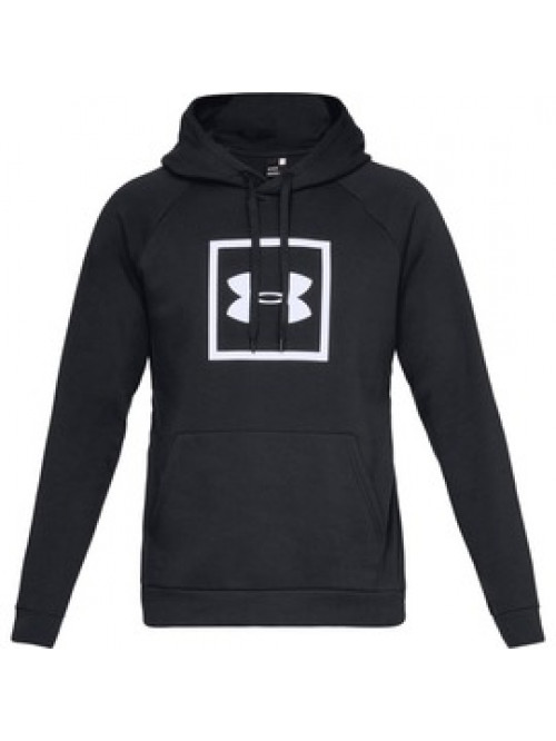 Herren Sweatshirt Under Armour RIVAL FLEECE LOGO HOODIE Schwarz