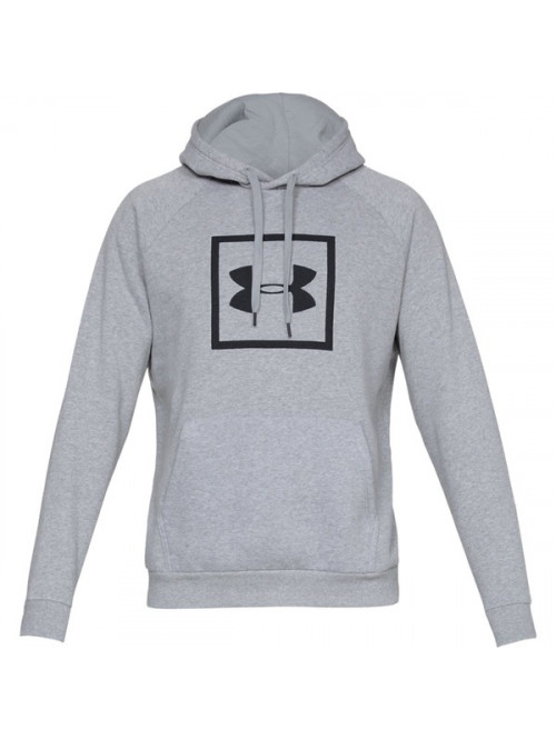Herren Sweatshirt Under Armour RIVAL FLEECE LOGO HOODIE Grau