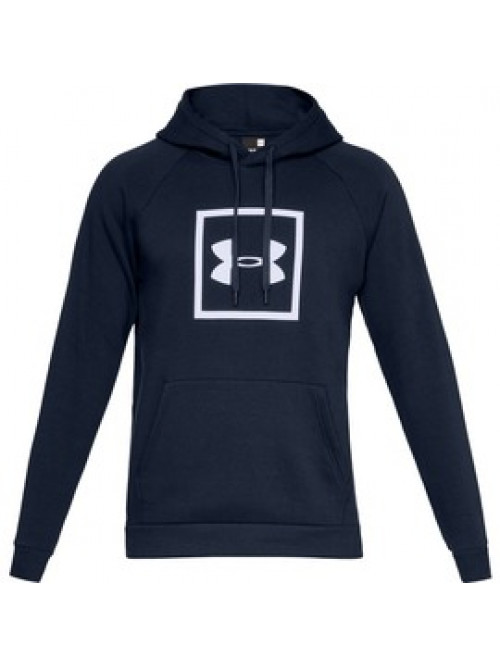 Herren Sweatshirt Under Armour RIVAL FLEECE LOGO HOODIE Blau