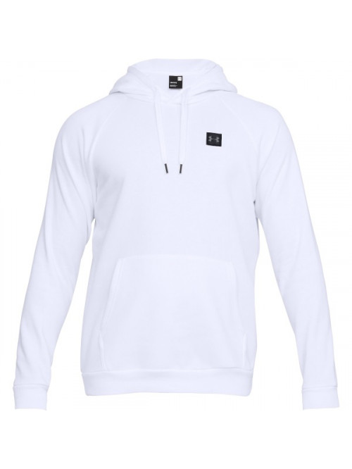 Herren Sweatshirt Under Armour RIVAL FLEECE PO HOODIE Weiß