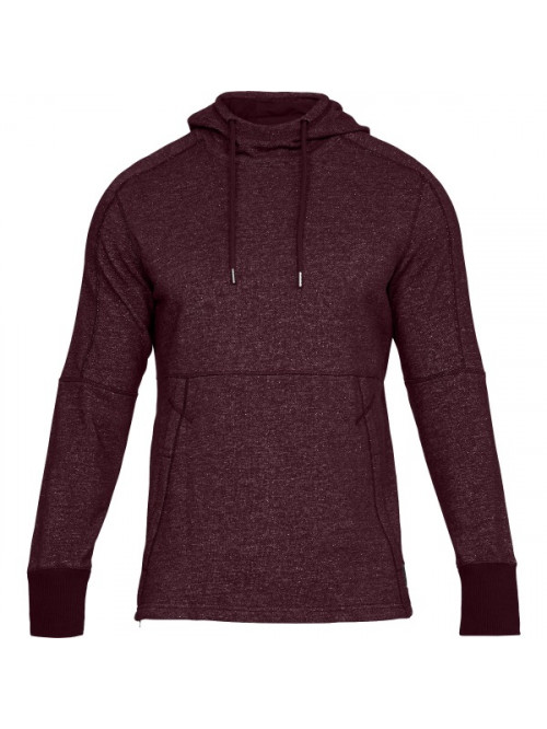 Herren Sweatshirt Under Armour Sportstyle Speckle Terry Hoodie Bordeaux