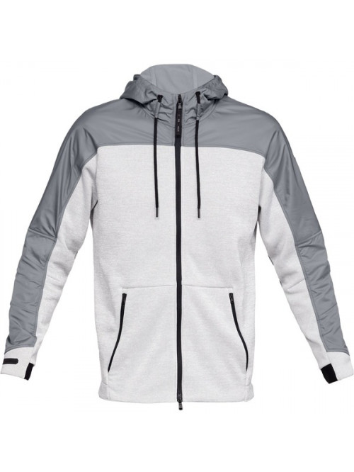 Herren Sweatshirt Under Armour Unstoppable Coldgear Swacket Grau