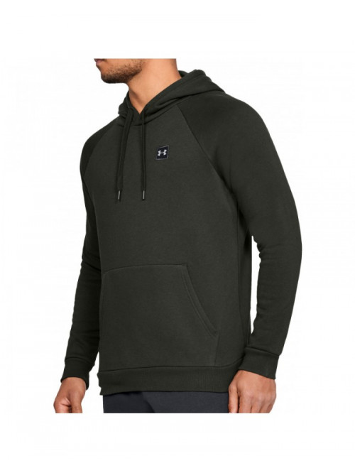 Herren Sweatshirt Under Armour RIVAL FLEECE PO HOODIE Grün