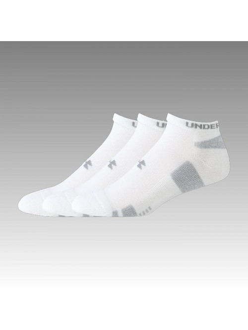 Herrensocken Under Armour Heatgear niedrige weiße 3 Paare