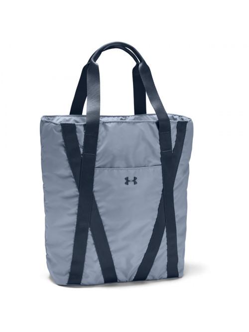Damen Tasche Under Armour Essentials Zip Tote Blau-Grau