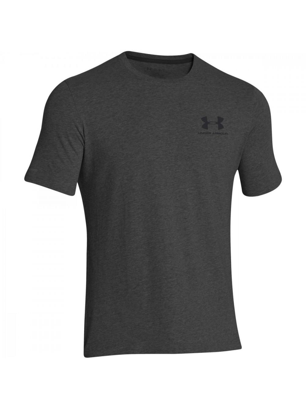 Herren lockeres T-Shirt Under Armour Left Chest Logo Tee grau