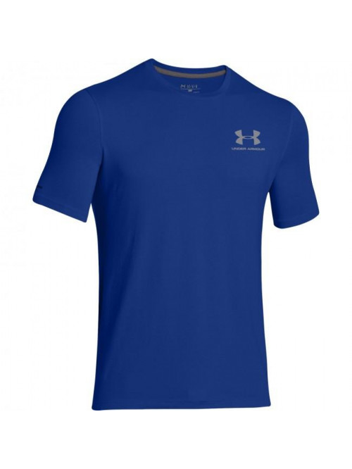 Herren lockeres T-Shirt Under Armour Left Chest Logo Tee blau