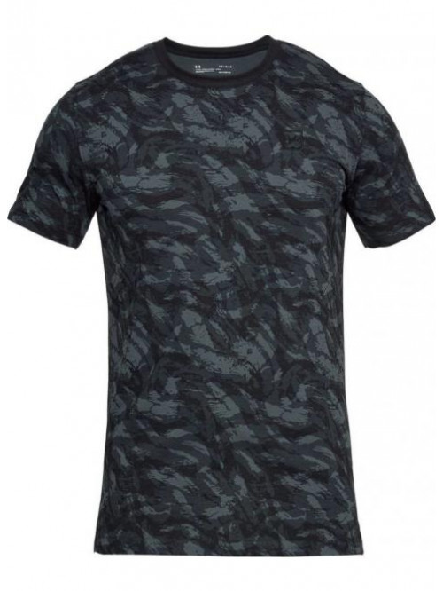 T-Shirt Under Armour AOP camo schwarz