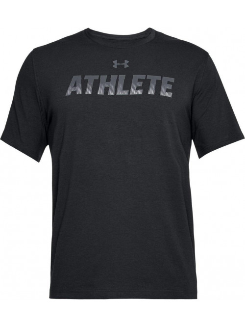 T-Shirt Under Armour Athlete schwarz