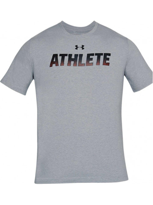 T-Shirt Under Armour Athlete grau