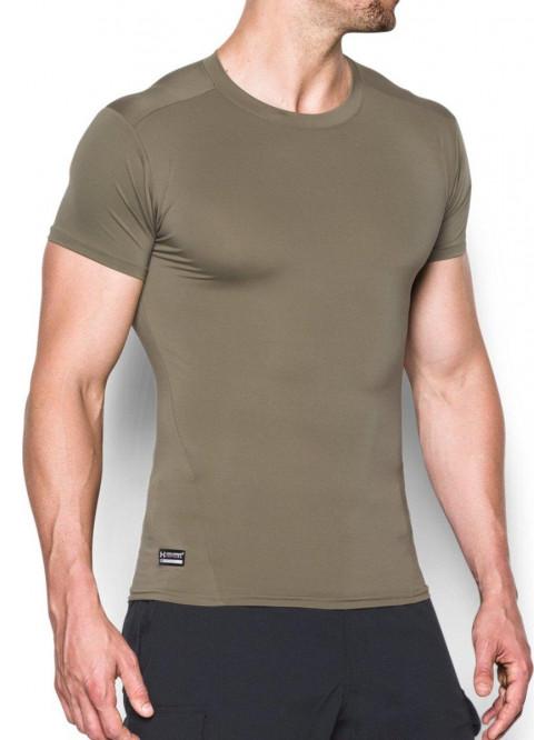Herren Kompressions-T-Shirt Under Armour taktisch grün