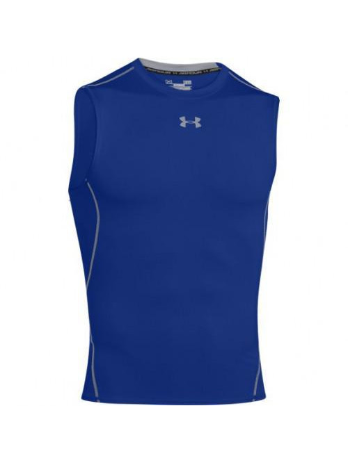 Herren Kompressions Unterhemd Under Armour HeatGear Sleeveless Blau