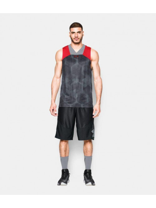 Herren T-Shirt Under Armour Grau-Rot