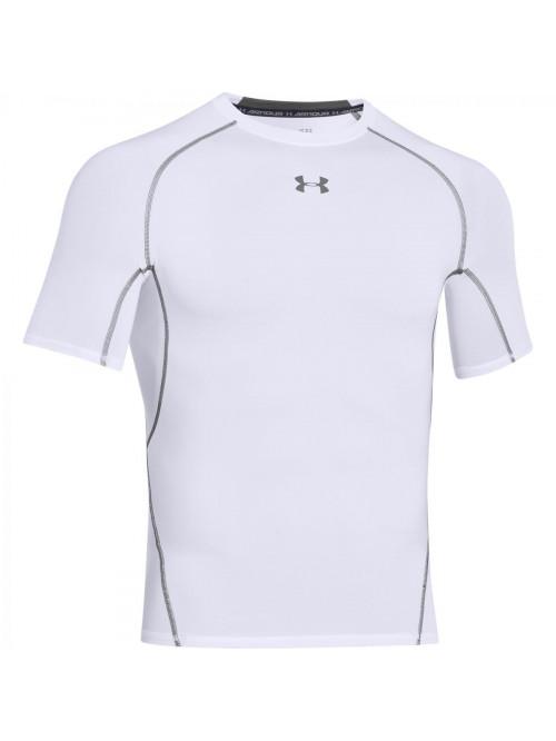 Herren Kompressions-T-Shirt Under Armour HeatGear Short Sleeve weiß