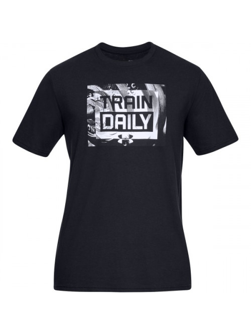 T-Shirt Under Armour Train Daily schwarz