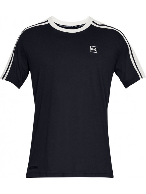 T-Shirt Under Armour Unstoppable Striped schwarz