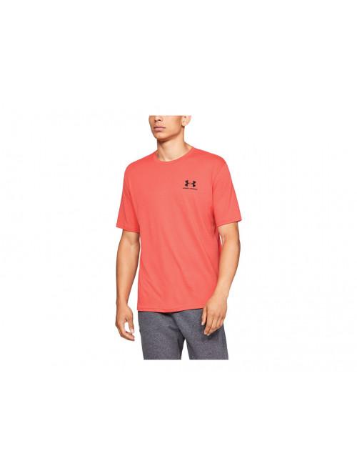 T-Shirt Under Armour Sportstyle Left Chest orange