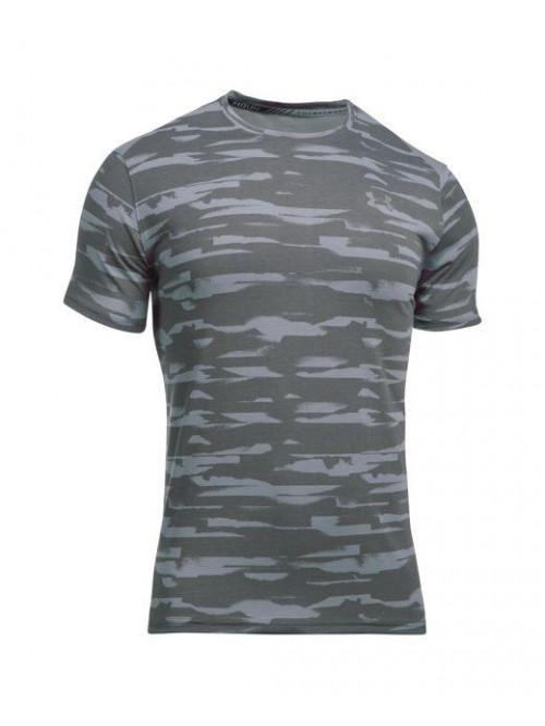 T-Shirt Under Armour Threadborne Run Mesh grau