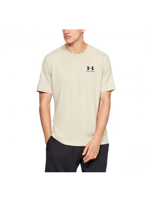 T-Shirt Under Armour Sportstyle Left Chest beige