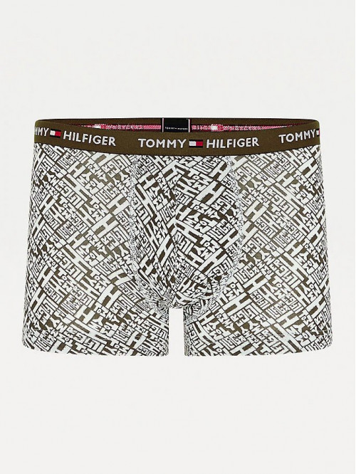 Herren Boxer Tommy Hilfiger All-Over Print Cotton Trunks Grün